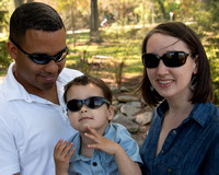 The Sunglasses Family goes to Pullen Park:  Sarah, Julian and Isaac Mapp May 2015