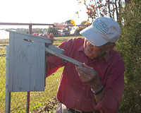 Bill checked every bluebird house on the trail.  He cleaned out old nests