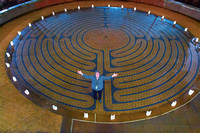 The labyrinth @ UNC Hospitals (formerly Memorial Hospital) in Chapel Hill, NC